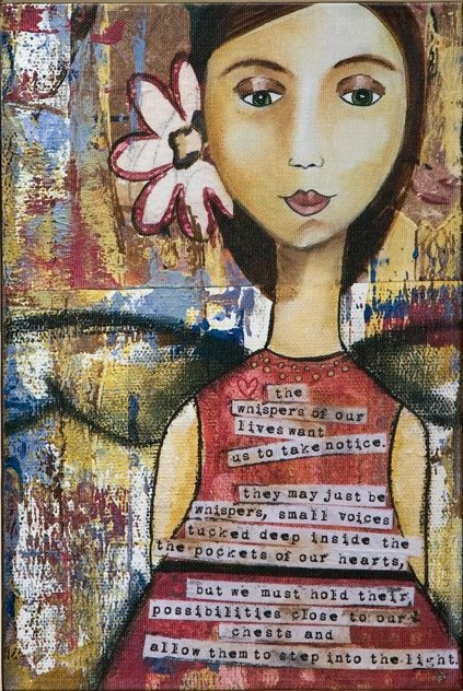 """""""What is Calling You"""" Wall Art - Kelly Rae Roberts - """"The whispers of our lives want us to take notice. They may just be whispers, small voices tucked deep inside the pockets of our hearts, but we must hold their possibilities close to our chests and allow them to step into the light."""""""