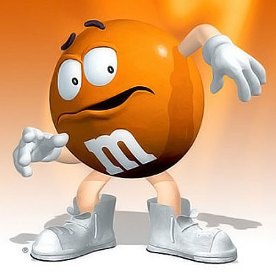 Scared M&M guy