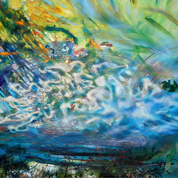 Aqueous painting by Margaret Lazzari -